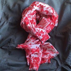 J. Crew botanical wool scarf